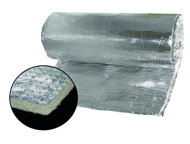 laine de verre sur plancher
