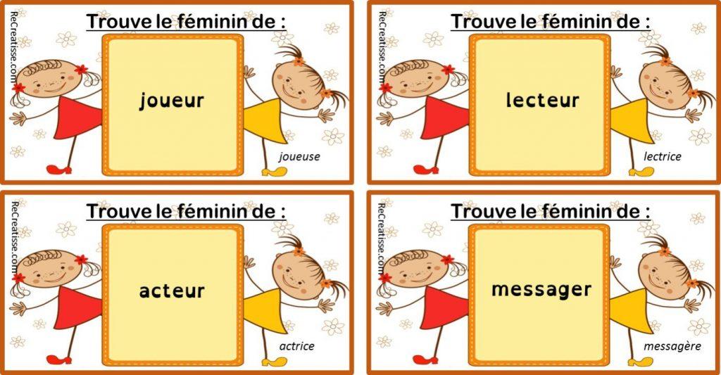 mots masculin féminin