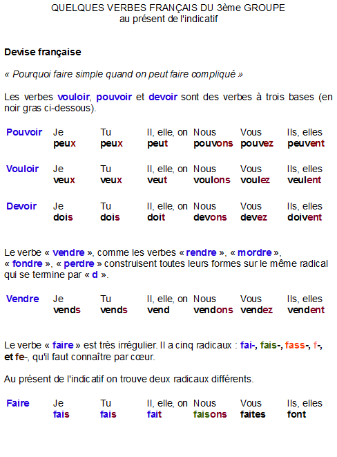 liste de mot compliqué