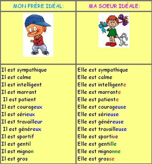 nom masculin et féminin exercices